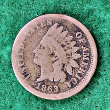 1863 INDIAN HEAD CENT in GOOD (G) CONDITION