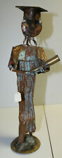 Kosie Wium copper metal statue - Graduate - South Africa artist signed