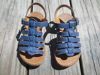 Mini Boden ~ Girls Blue Gladiator Sandals ~ Size 26 or 9 1/2
