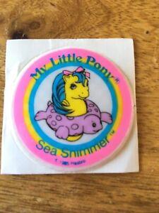 GENUINE UNUSED Vintage my little pony STICKER - SEA SHIMMER 1985 Hasbro
