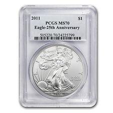 2011 Silver American Eagle MS-70 PCGS (25th Anniv) - SKU #68149