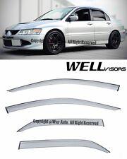 For 11-Up Mitsubishi Lancer Evo 8 VIII WellVisors Smoke Tint Side Window Visors