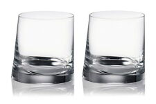 Rogaska Crystal 90 Degrees Double Old Fashioned DOF'S Glasses - NEW / BOX!