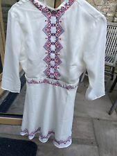 asos size 10 Aztec High Neck dress White Excellent Condition
