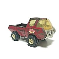 "Vintage 1970s Tonka Pressed Metal Red Pick-Up Truck Approx 9"" Long Well Worn"