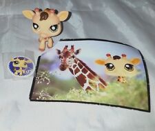 Littlest Pet Shop #902 Light Brown or Tan Giraffe With Gold Starburst Eyes