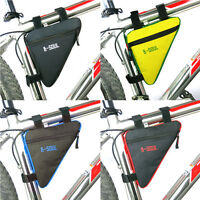 1x Bycicle Frame Pack Pannier Front Tube Bag Cycling Bike Frame Pack Trian TFSU