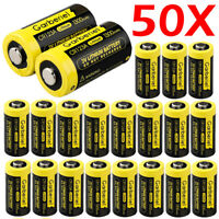 50 Pack Garberiel CR123A 123A DL123 EL123 3 Volt Lithium Batteries For Camera