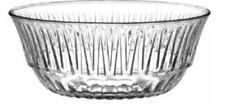 Lav Large Glass Serving Bowl Ridged Desert Dish Decorative Tableware Trifle Bowl