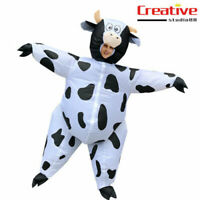 US! Adults Cow Inflatable Halloween Birthday Party Funny Blow up Cosplay Costume