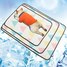 KQ_ Pets Summer Animals Print Anti Scratch Cooling Pad Ice Silk Mat Sleeping Cus