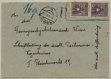ÖSTERREICH 1946 BRIEF, WIEN Stempe. 'T' Postvermerk! Briefmarke nicht Stempeln.