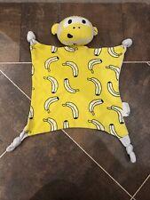 Kippins Coton Organique Jaune Singe Banane imprimé gris bébé couette couverture