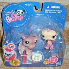 Littlest Pet Shop BALLERINA/Fairy HIPPO 1415, Disco Ostrich 1416  2009