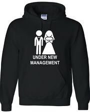 UNDER NEW MANAGEMENT Married Couple Funny Hoodie Hooded Sweatshirt