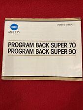 Minolta Program Back Super 70 / 90 Manual
