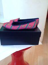 POLO Ralph Lauren bimba rosa Pompa Scarpe CON TACCO PIATTO MISURA 13 Regno Unito Nuovo con Scatola