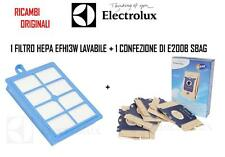 SACCHI ASPIRAPOLVERE ELECTROLUX E200B+FILTRO HEPA EFH13W ZCS2100BEL SILENCER