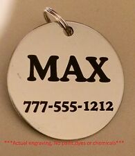 Stainless steel dog pet id tags (lifetime guarantee!) Personalized w/ free ring