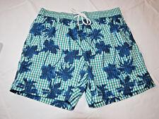 Men's swim trunks board shorts Tommy Hilfiger NEW M med 78B0908 315 green blue
