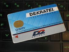 Telefonkarte SIm-Card Karte D-Netz DEKRATEL sehr alte SIm-Carte  BIG-Size DEKRA