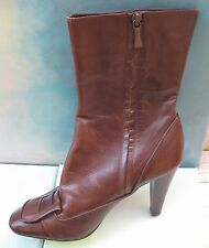 MAXSTUDIO Angelo Brown Mid Shaft Leather Boot Wms 8.5 NWT $249