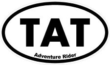 "#k179 (1) 2.5"" ADV Adventure Rider TAT BMW GS KLR Vstrom Pannier Decal Sticker"