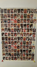 93-94 Topps Series1 Basketball Uncut Sheets 28.5 x 43.5 Total 396 cards