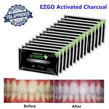 EZGO FDA Organic Bamboo Charcoal Teeth Whitening Strips Whitestrips