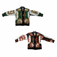 Kid/'s Silk Shirt Roosters Design Long Sleeve