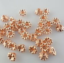 30pcs Rose Gold Alloy Small Flower End Bead Caps Jewelry Making 3x5mm