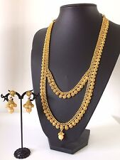 New Bollywood Indian Imitation Jewellery/ Bridal/Party wear/ Long Gold,Pearl Set