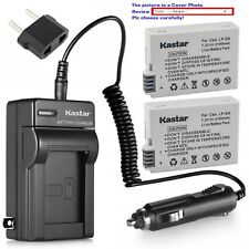 Kastar Battery Travel Charger for Canon LP-E8 LC-E8 & Canon EOS Rebel T3i Camera