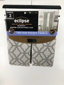 Eclipse Blackout Window Curtain Rod Pocket Panel Pair 52 x 84 Lollie Grey