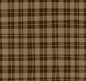 Naughty Puppies ~ Camelot Fabrics ~ 100% quilt cotton - Brown Plaid - BTY