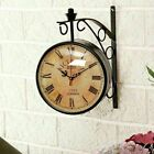 Victoria Station Clock Double Sided Clock Functional Home Decor Wall Clock
