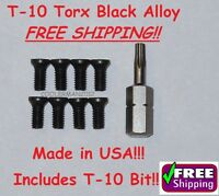 New!! RUGER & SAKO T-10 Torx Replacement Alloy Screws 8pk for most Scope Rings