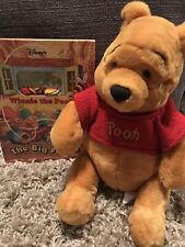 Winnie The Pooh Plush Doll- 14-16 Inches & Winnie The Pooh Book With Puppet
