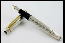 MONTBLANC STERLING SILVER SOLITAIRE LeGRAND FOUNTAIN PEN 146SP M, NEW ENCASED