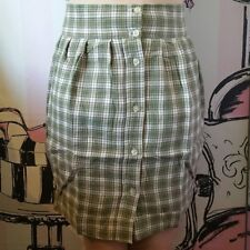 BNWT Size 6 8 Motel Rocks Topshop R&R Razz Check Pencil Skirt Pocket Green White