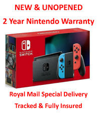 WEDNESDAY DELIVERY Nintendo Switch Console 32GB Neon Red Blue Improved Battery
