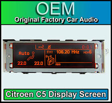 Citroen C5 display screen, RD4 stereo LCD Multi function clock dash Brand New!!!