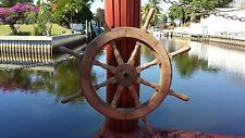 "Classic 36"" Wood Ship's Wheel; Sailboat Model, Yacht Helm"