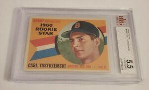 CARL YASTRZEMSKI - 1960 TOPPS - #148 - ROOKIE - BVG 5.5 EXCELLENT+ -