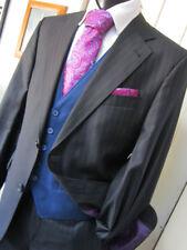Without Prejudice WP Black Pinstripe Suit UK 40 W 32 L 28 EU 50 Pristine