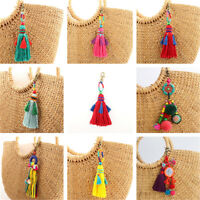 Candy Colors Tassel Pom Pom Charm DIY For Chain HandBag Car Pendant Accessories