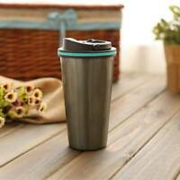 Leakproof Travel Coffee Mug Cup Thermal Stainless Steel Flask Vacuum Insulated