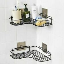 Bathroom Corner Rack Kitchen Triangular Shelf Wall Hanger Tripod  Self Stick