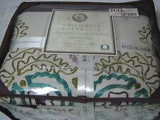 "New World Traveler Nostalgia ""Layli"" Full/Queen Duvet Cover Suzani Embroideries"