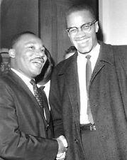 1964 MARTIN LUTHER KING JR & MALCOLM X Glossy 8x10 Photo Historical Print Poster